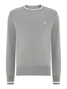 Bold tipped crew neck sweat