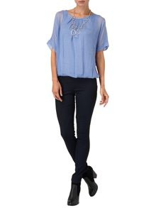 Jenna Silk and Jersey Blouse