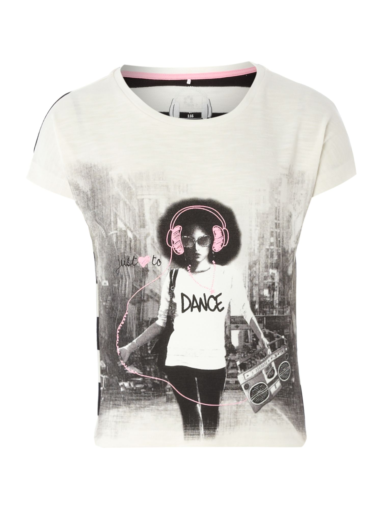 Girls dance print t-shirt