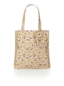 Blake neutral floral shopper