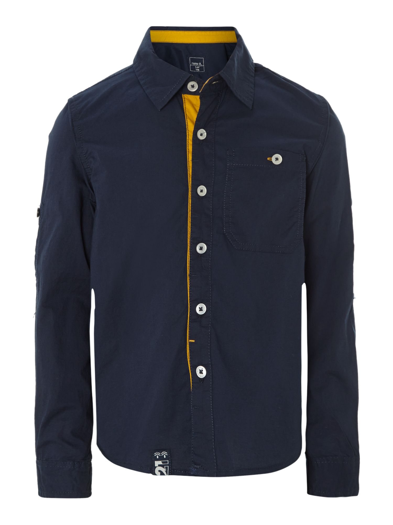 Boys contrast placket shirt