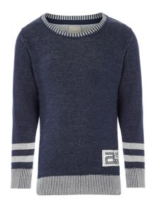 Boys stripe cuff knitted jumper