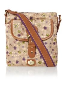 Blake neutral floral cross body bag