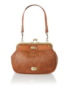 Agatha tan frame cross body bag