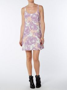 Tropical print camisole dress