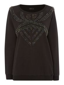 Embellished tribal sweat