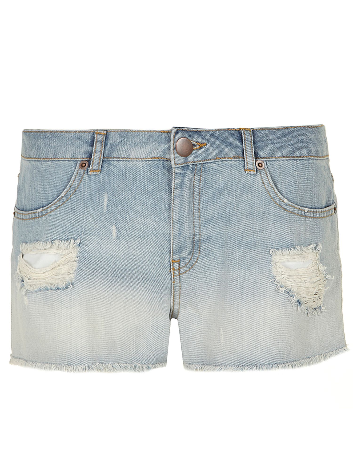 Bleach ombre denim short