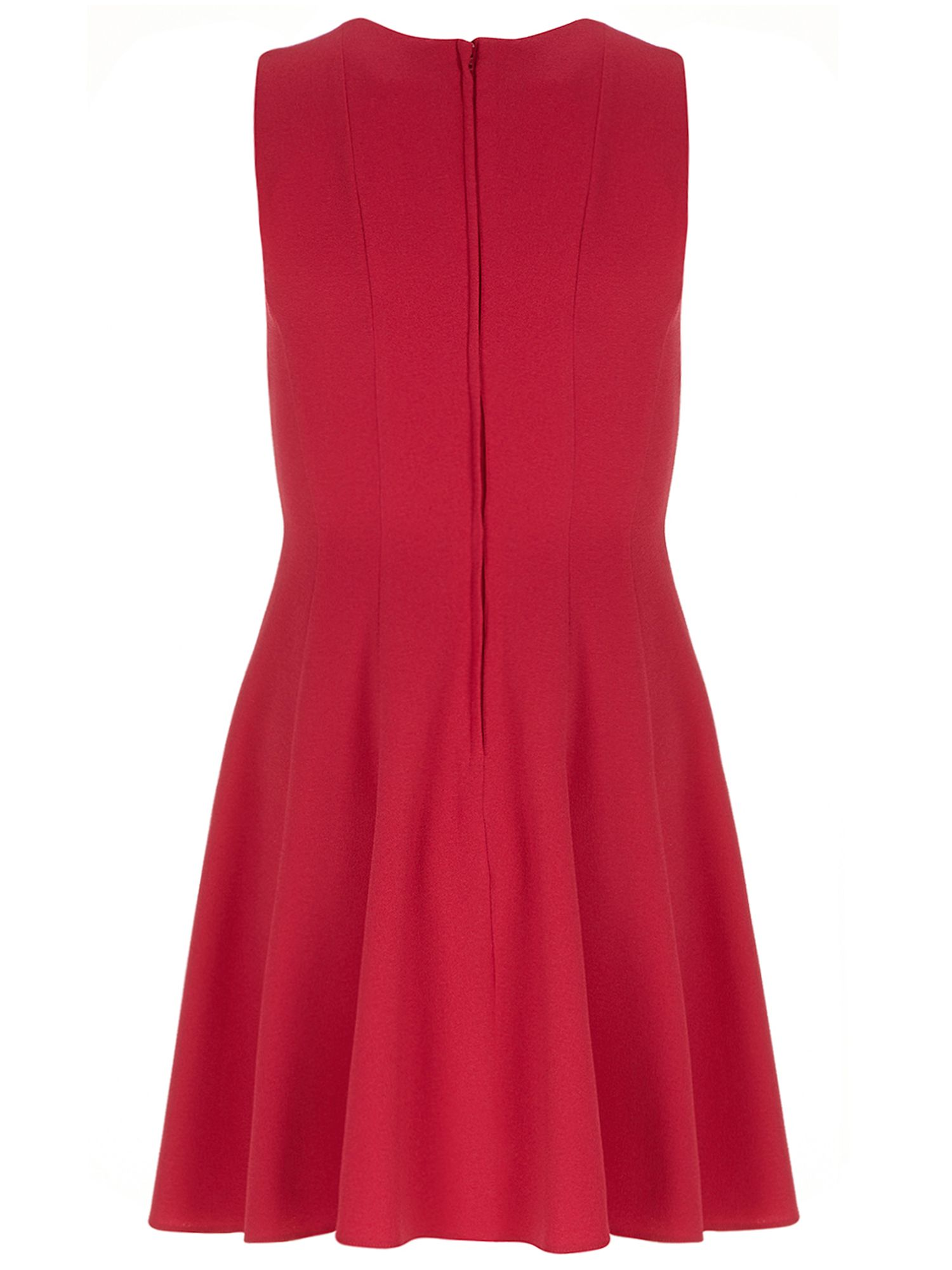 Petite crepe fit and flare dress