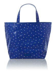 Zip top canvas tote bag