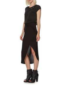 Jersey ruched front skirt