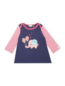 Baby girls Elephant applique dress