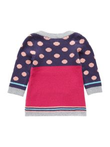 Baby girls soft intarsia knit dress
