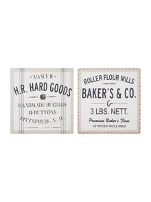 Set of 2 Advert wall art
