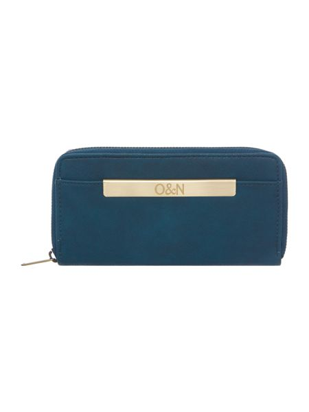 Ollie & Nic Georgie blue large ziparound purse