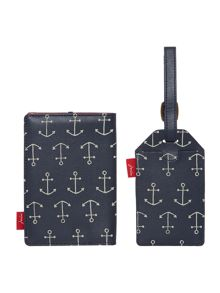 Anchor luggage tag and passport holder