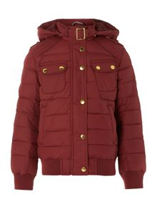 Girls Tenby quilted bomber jacket