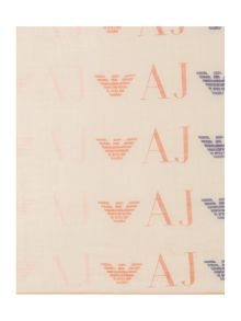 All over logo cotton scarf