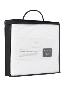luxury microfibre mattress protector pillow pair