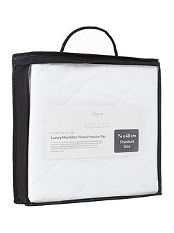 Luxury microfibre pillow protector, pair