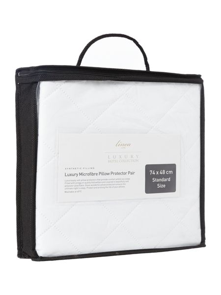 Luxury Hotel Collection Luxury microfibre pillow protector, pair