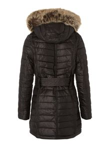 Girls Oakwheel Parka jacket with faux fur trim