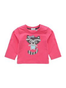 Baby girls racoon applique t-shirt