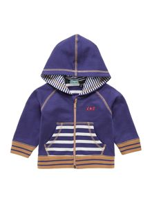 Baby boys stripe pocket hoody