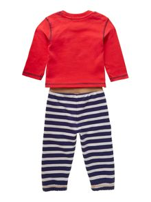 Baby boys fox applique t-shirt and jogger set