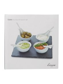Linea Slate Set of 4 dip bowls