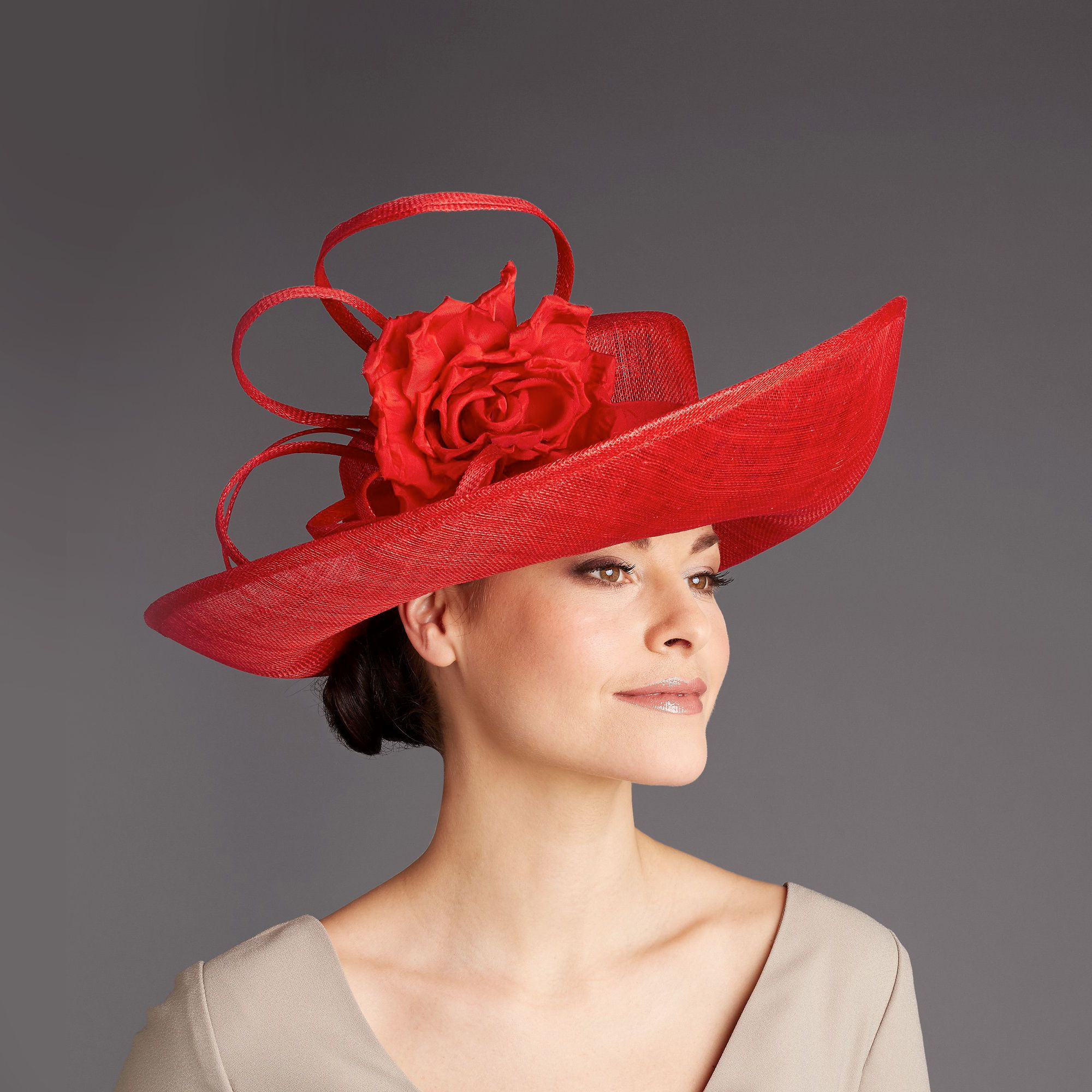 Rachel trevor-morgan red corsage hat