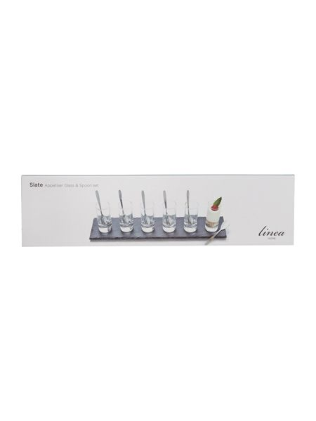 Linea Slate set of 6 appetiser glasses