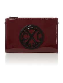 Christian Lacroix Red patent clutch bag