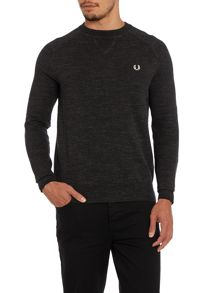 Tipped marl sweater