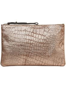 Hollie leather clutch bag