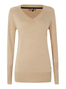 V neck sparkle jumper