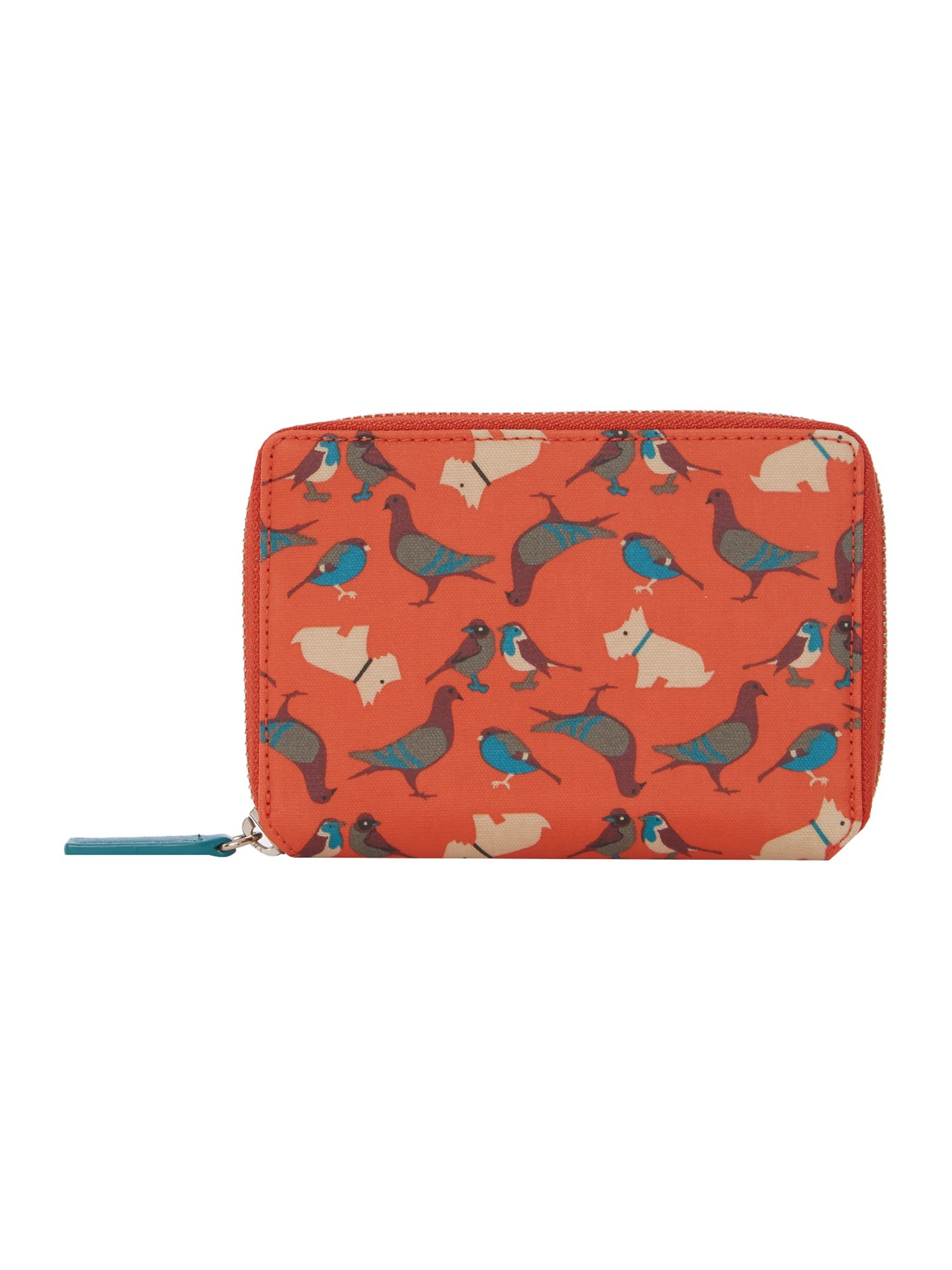 A little bird told me red medium zip around purse