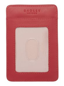 A little bird told me red travel card holder