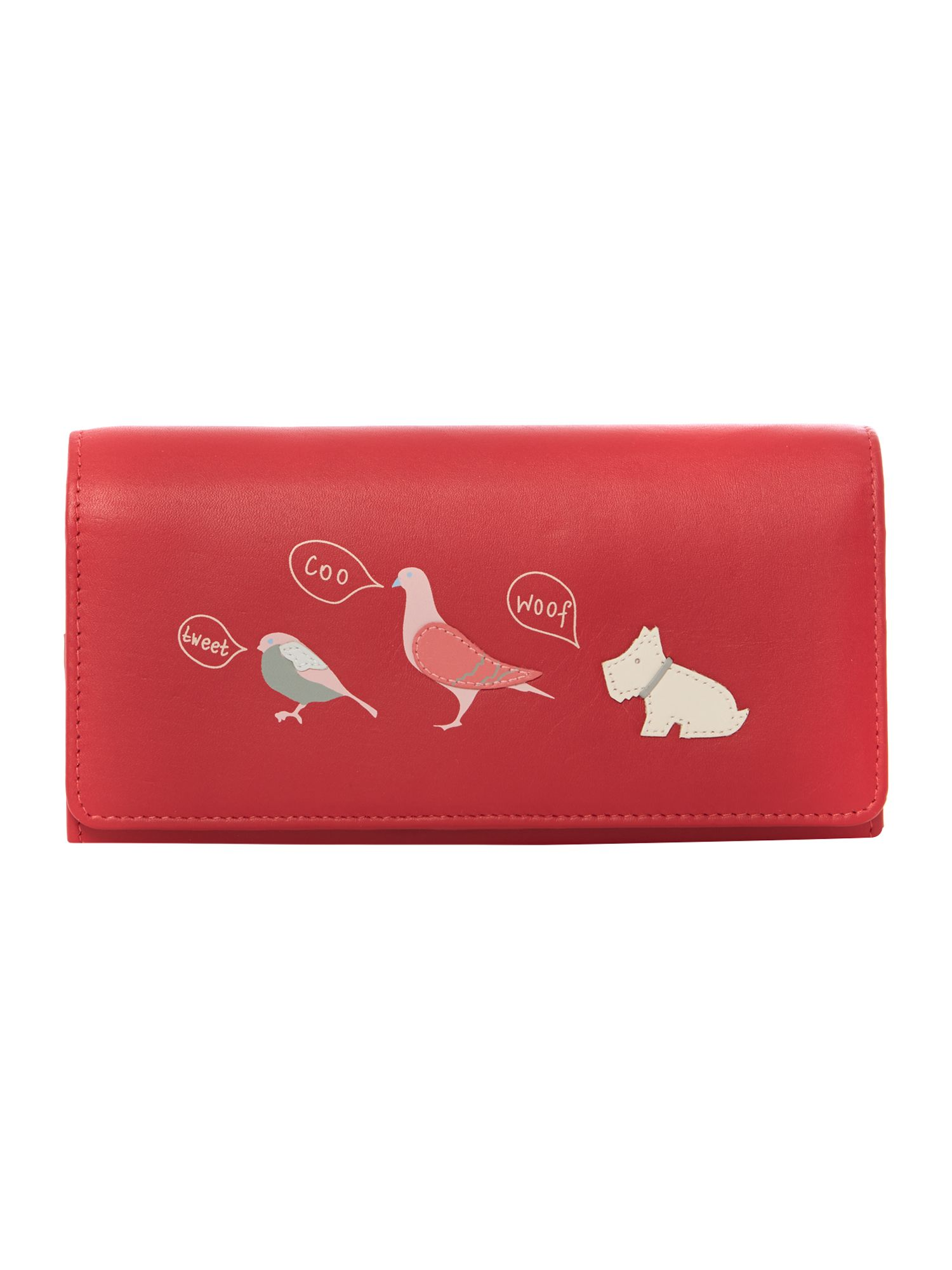 A little bird told me red large flap over purse