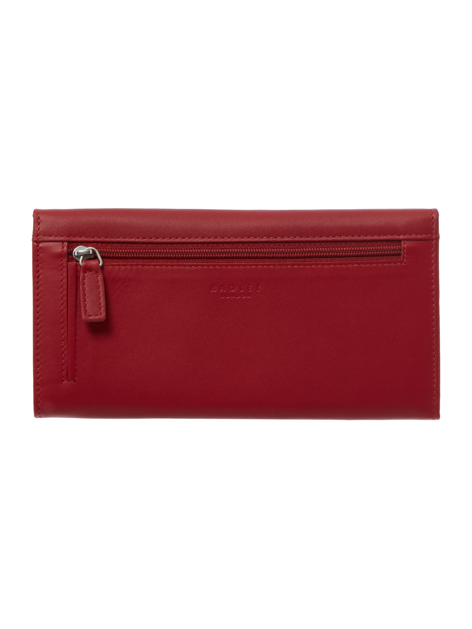 Heritage dog red large flap over purse