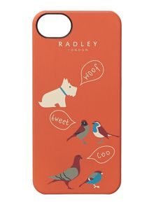 A little bird told me orange iphone case