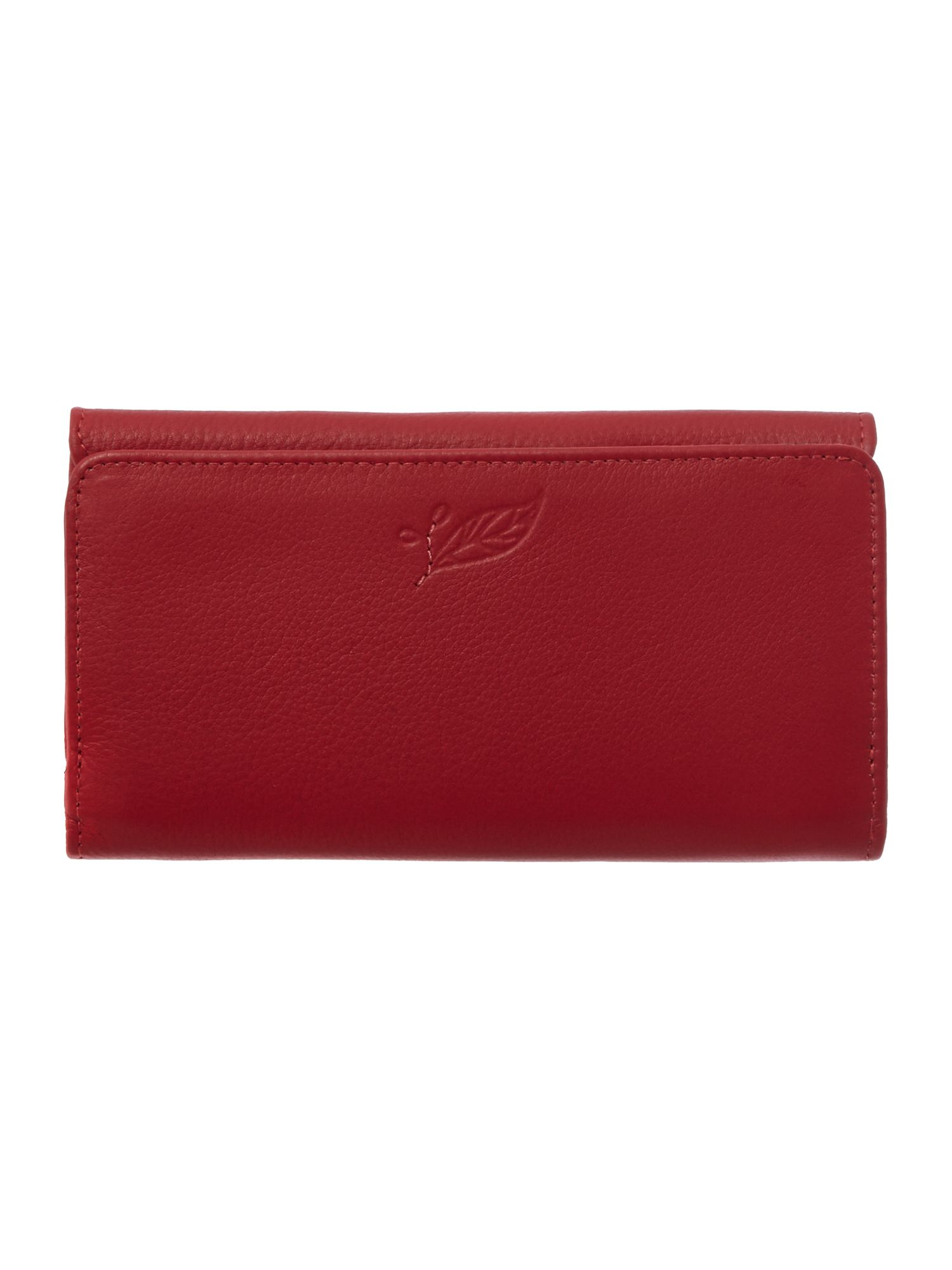 Laurel leaf red large flap over purse