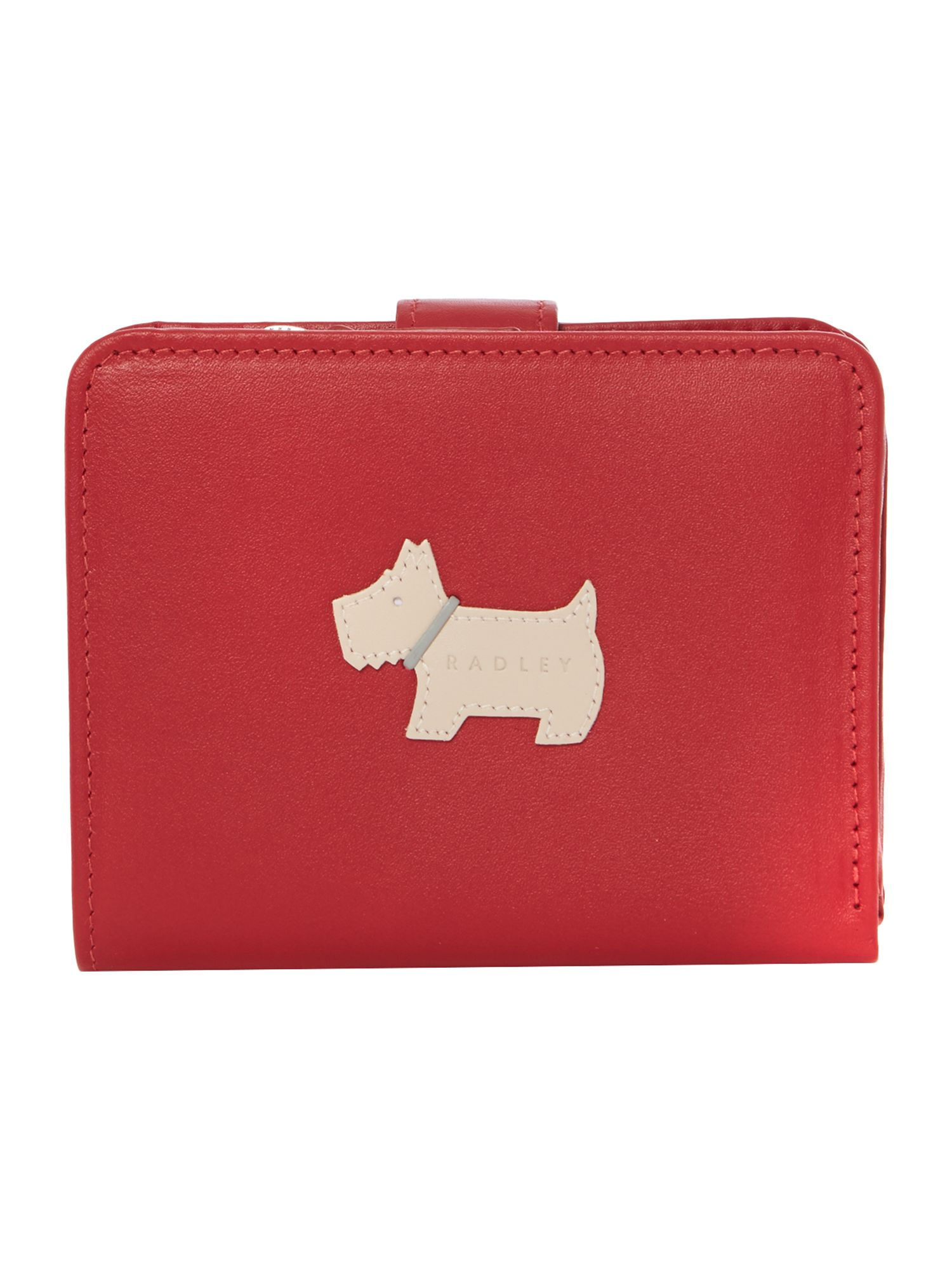 Heritage dog red medium zip around purse