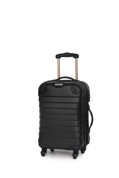 Linea Shell black 4 wheel hard cabin suitcase