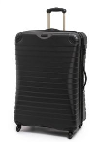 Linea Shell black 4 wheel hard large suitcase