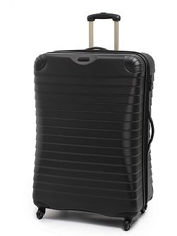 Shell black 4 wheel hard large suitcase