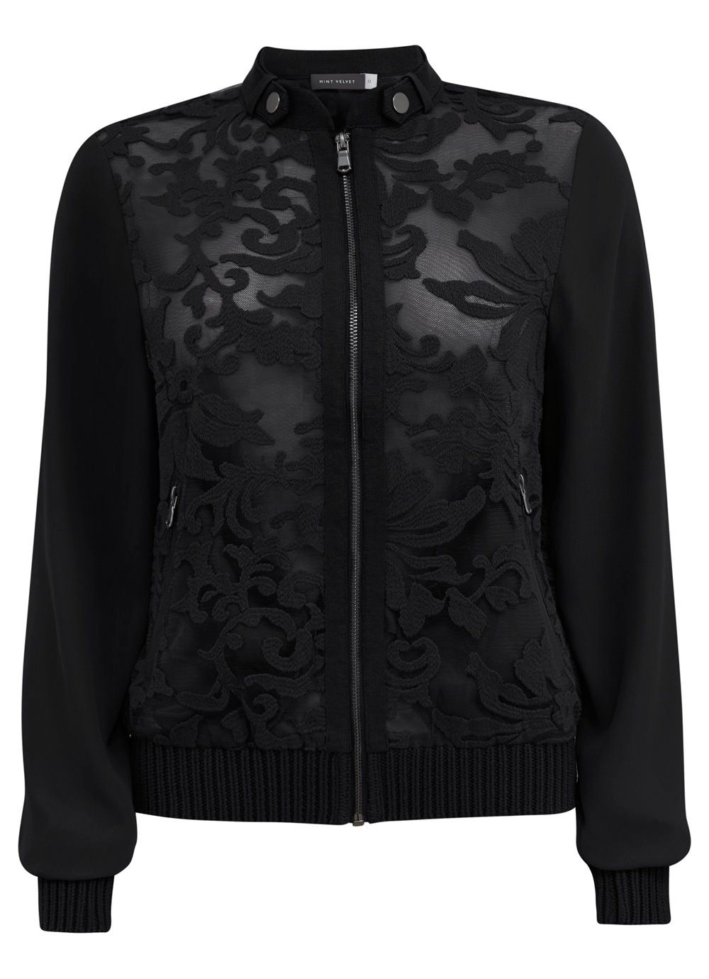 Black Lace Bomber