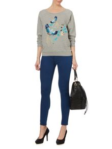 Embroidered slouch sweatshirt
