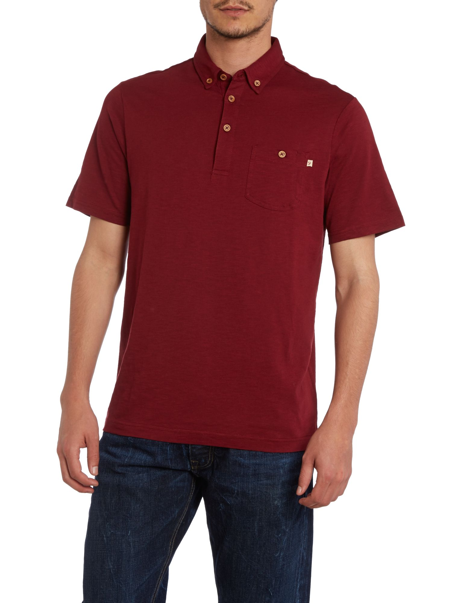 Stapleford button collar polo shirt