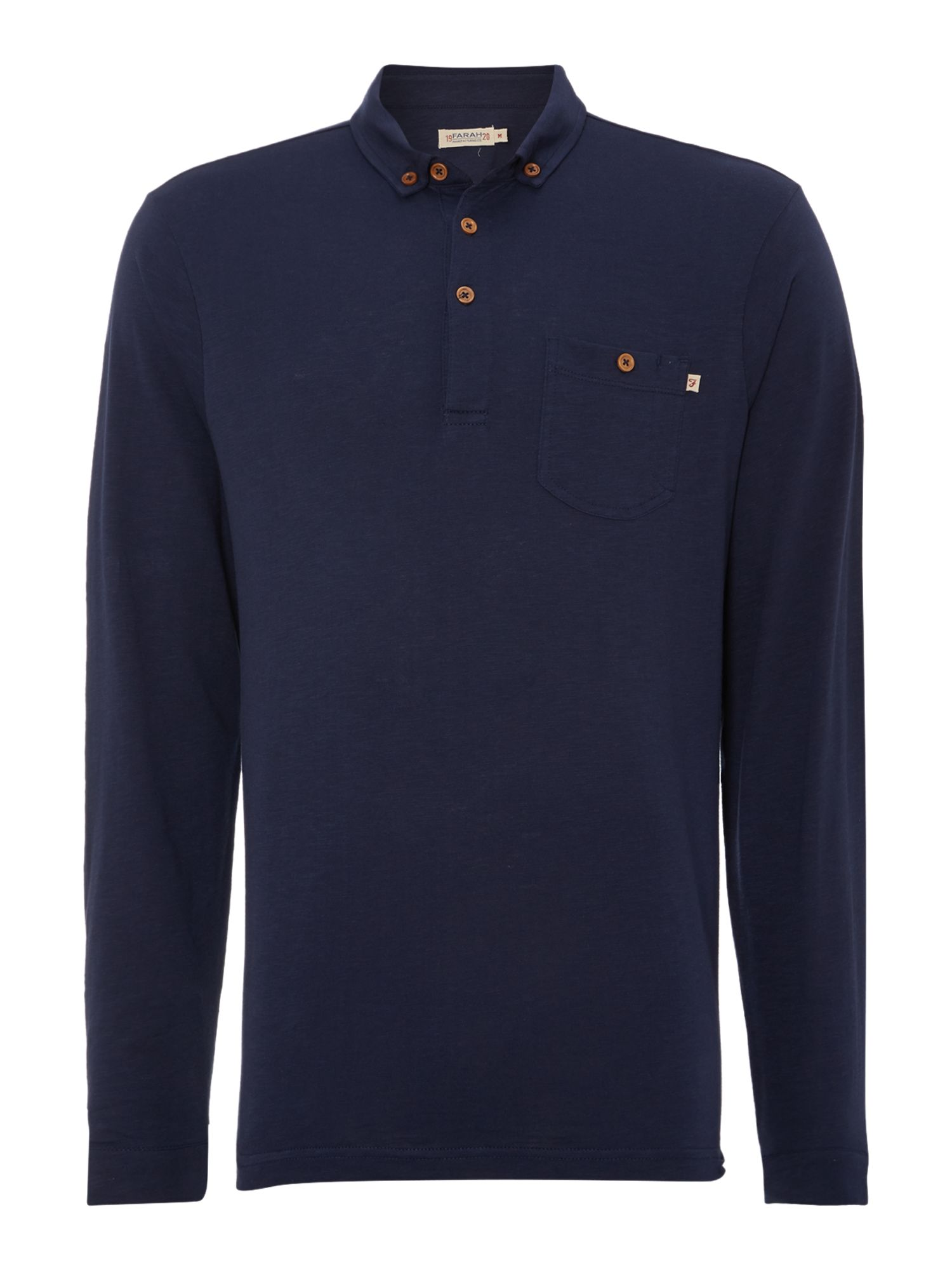 Stapleford long sleeve polo shirt