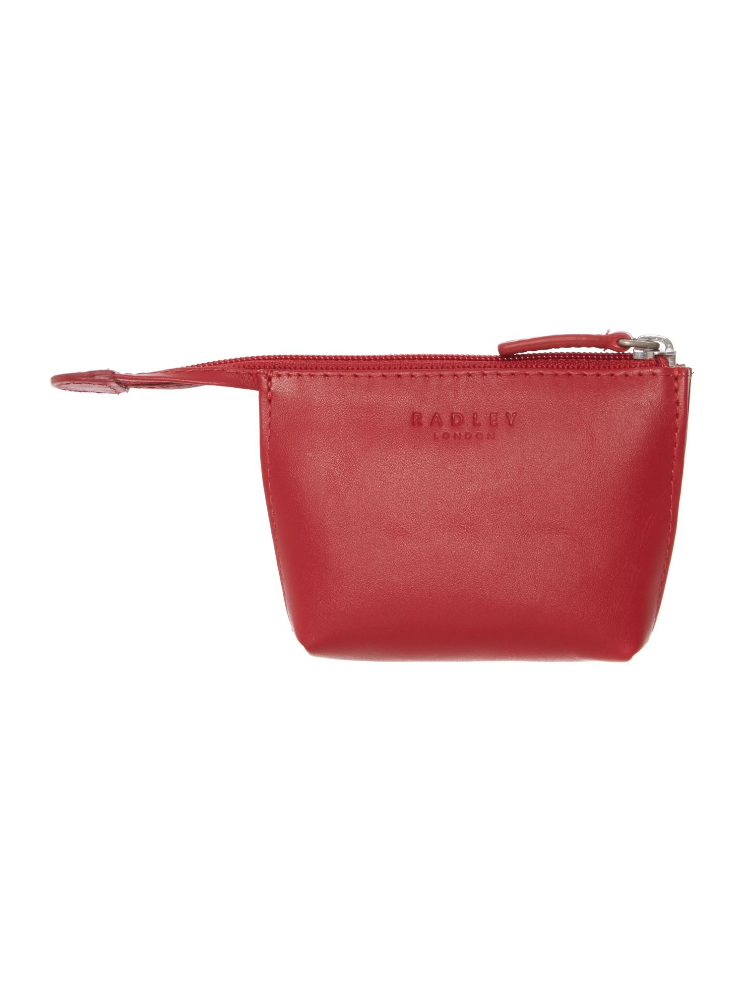 Heritage dog red small zip coin purse